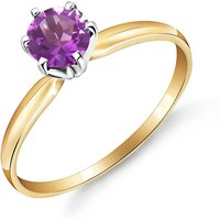 Amethyst Crown Solitaire Ring 0.65 ct in 9ct Gold - Fashion Gifts