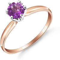 Amethyst Crown Solitaire Ring 0.65 ct in 9ct Rose Gold
