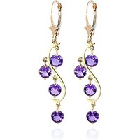 Amethyst Dream Catcher Drop Earrings 4.95 ctw in 9ct Gold - Jewellery Gifts