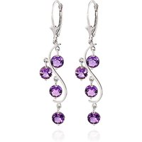 Amethyst Dream Catcher Drop Earrings 4.95 ctw in 9ct White Gold - White Gold Gifts