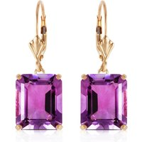 Amethyst Drop Earrings 13 ctw in 9ct Gold