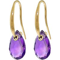 Amethyst Droplet Earrings 8 ctw in 9ct Gold