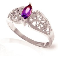 Image of Amethyst Filigree Ring 0.2 ct in 9ct White Gold
