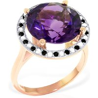 Amethyst Halo Ring 6.2 ctw in 9ct Rose Gold