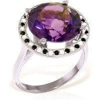Amethyst Halo Ring 6.2 ctw in 9ct White Gold