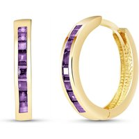 Amethyst Huggie Earrings 1.2 ctw in 9ct Gold