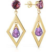 Amethyst Kite Drop Earrings 2.4 ctw in 9ct Gold - Jewellery Gifts