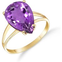 Amethyst Pear Drop Ring 5 ct in 9ct Gold - Fashion Gifts