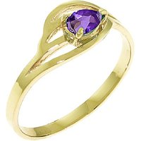 Amethyst Pear Strand Ring 0.3 ct in 9ct Gold - Fashion Gifts