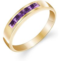 Amethyst Princess Prestige Ring 0.6 ctw in 9ct Gold - Fashion Gifts