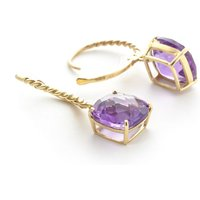 Amethyst Rococo Twist Drop Earrings 7.2 ctw in 9ct Gold - Cushion Gifts