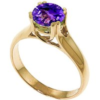 Amethyst Solitaire Ring 1.1 ct in 9ct Gold - Fashion Gifts