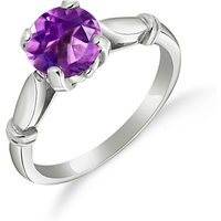 Amethyst Solitaire Ring 1.15 ct in 9ct White Gold