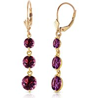 Amethyst Trinity Drop Earrings 7.2 ctw in 9ct Gold - Jewellery Gifts