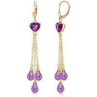 Amethyst Vestige Drop Earrings 9.5 ctw in 9ct Gold - Jewellery Gifts