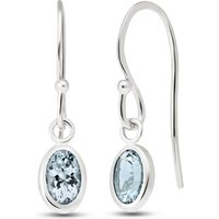 Aquamarine Allure Drop Earrings 1 ctw in 9ct White Gold - Jewellery Gifts