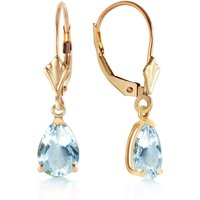 Aquamarine Belle Drop Earrings 2.85 ctw in 9ct Gold - Jewellery Gifts