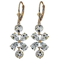 Aquamarine Blossom Drop Earrings 5.32 ctw in 9ct Gold - Jewellery Gifts
