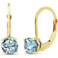 Aquamarine Boston Drop Earrings 1.2 ctw in 9ct Gold