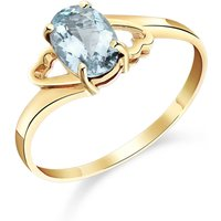 Aquamarine Classic Desire Ring 0.75 ct in 9ct Gold - Fashion Gifts