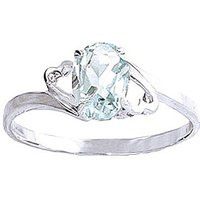 Aquamarine Classic Desire Ring 0.75 ct in Sterling Silver - Aquamarine Gifts