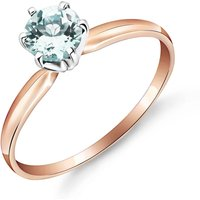 Aquamarine Crown Solitaire Ring 0.65 ct in 9ct Rose Gold