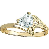 Aquamarine Devotion Ring 0.95 ct in 9ct Gold - Fashion Gifts