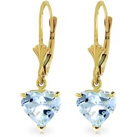 Aquamarine Drop Earrings 3.05 ctw in 9ct Gold - Jewellery Gifts