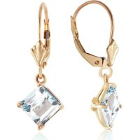 Aquamarine Drop Earrings 3.2 ctw in 9ct Gold - Jewellery Gifts