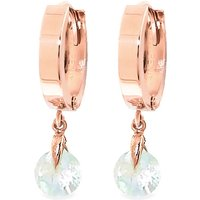 Aquamarine Huggie Drop Earrings 1.3 ctw in 9ct Rose Gold