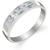 Aquamarine Princess Prestige Ring 0.5 ctw in Sterling Silver - Aquamarine Gifts