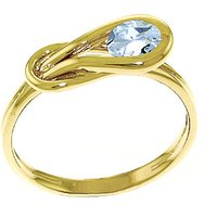Aquamarine San Francisco Ring 0.65 ct in 9ct Gold - Fashion Gifts