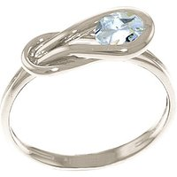 Aquamarine San Francisco Ring 0.65 ct in Sterling Silver - Aquamarine Gifts