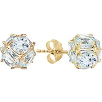 Aquamarine Infinity Stone Earrings 5.7 ctw in 9ct Gold - Aquamarine Gifts