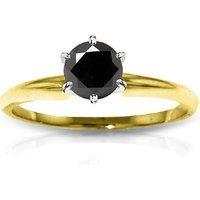 Black Diamond Solitaire Ring 1 ct in 9ct Gold