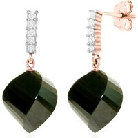 Black Spinel Stud Earrings 31.15 ctw in 9ct Rose Gold