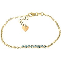 Blue Topaz Adjustable Bracelet 1.55 ctw in 9ct Gold