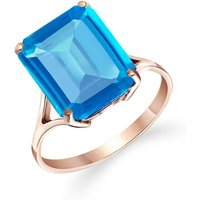 Blue Topaz Auroral Ring 7 ct in 18ct Rose Gold