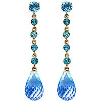 Blue Topaz by the Yard Drop Earrings 23 ctw in 9ct Gold - Jewellery Gifts