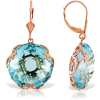 Blue Topaz Chequer Earrings 46 ctw in 9ct Rose Gold