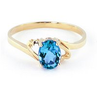 Blue Topaz Classic Desire Ring 0.95 ct in 9ct Gold - Classic Gifts