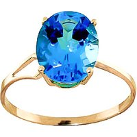 Blue Topaz Claw Set Ring 2.2 ct in 9ct Gold - Fashion Gifts