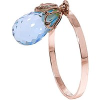 Blue Topaz Crown Ring 3 ct in 9ct Rose Gold