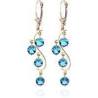 Blue Topaz Dream Catcher Drop Earrings 4.95 ctw in 9ct Gold - Jewellery Gifts