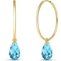 Blue Topaz Halo Earrings 4.5 ctw in 9ct Gold - Halo Gifts