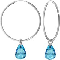 Image of Blue Topaz Halo Earrings 4.5 ctw in 9ct White Gold