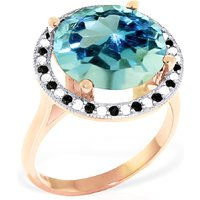 Image of Blue Topaz Halo Ring 8 ctw in 18ct Rose Gold