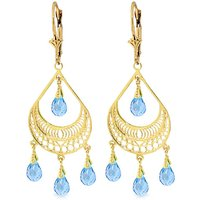 Blue Topaz Mirage Drop Earrings 6.75 ctw in 9ct Gold - Jewellery Gifts