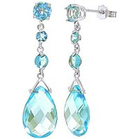 Click to view product details and reviews for Blue Topaz Pendulum Drop Earrings 132 Ctw in 9ct White Gold.