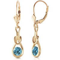 Image of Blue Topaz San Francisco Drop Earrings 1.3 ctw in 9ct Gold